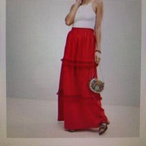 ASOS Design Maxi skirt with tassel trim